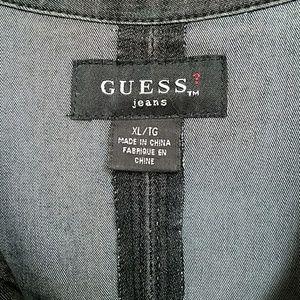 Grey denim stretch Guess jacket. Size XL